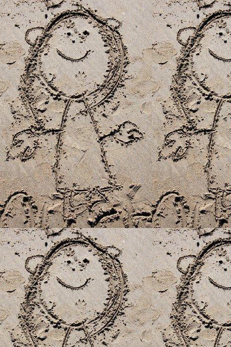 Tapeta Pixerstick Písek kresba dítěte - Prázdniny