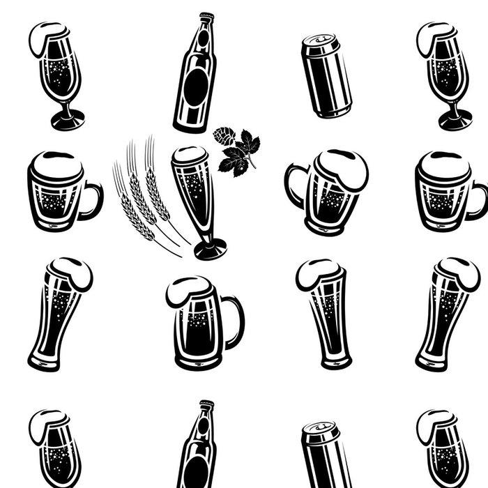 Tapeta Pixerstick Pivo Set - Alkohol