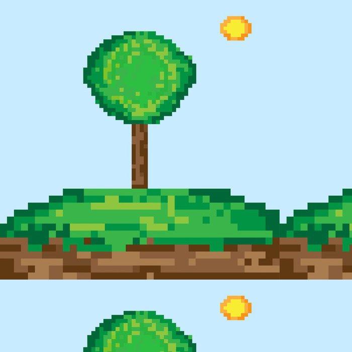 Tapeta Pixerstick Pixel umění strom - Roční období