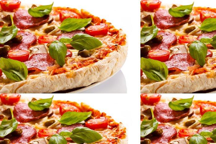 Tapeta Pixerstick Pizza na bílém pozadí - Témata