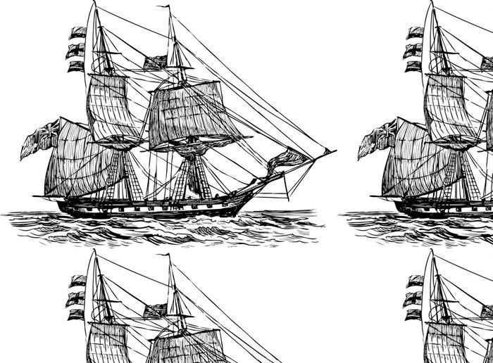 Tapeta Pixerstick Plachetní loď - Lodě