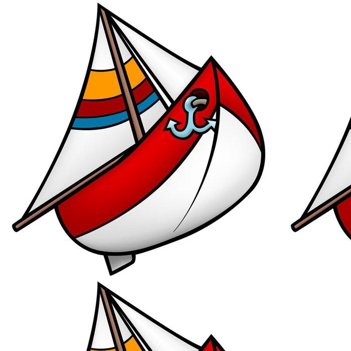 Tapeta Pixerstick Plachetnice - barevné kreslené ilustrace - Lodě
