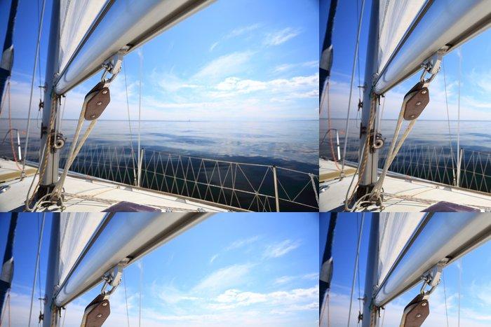 Vinylová Tapeta Plachetnice jachta plující v modré moře. Cestovní ruch - Prázdniny
