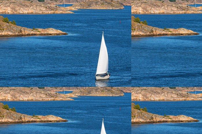 Tapeta Pixerstick Plachetnice na moři - Voda