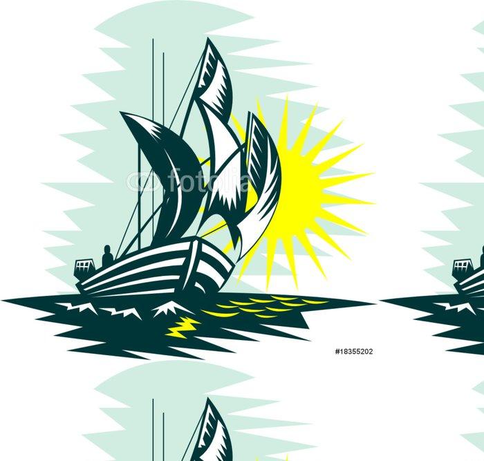 Tapeta Pixerstick Plachetnice rybaření - Lodě