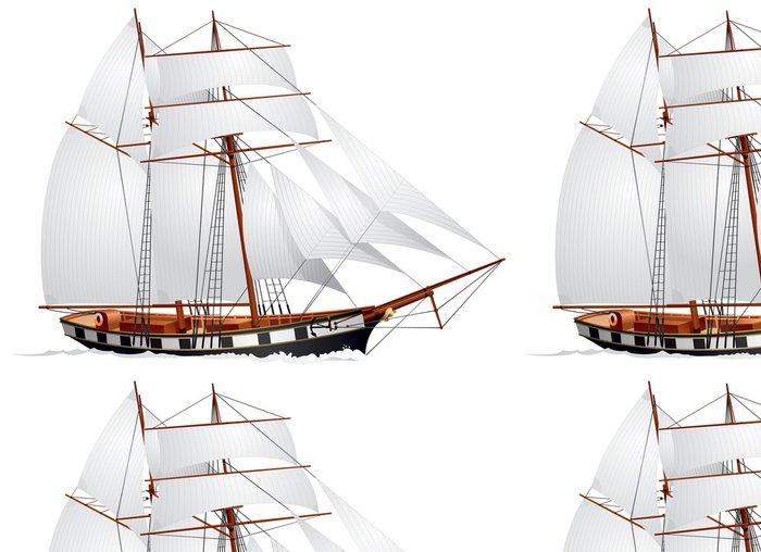 Tapeta Pixerstick Plachetnice, škuner topsail - Lodě