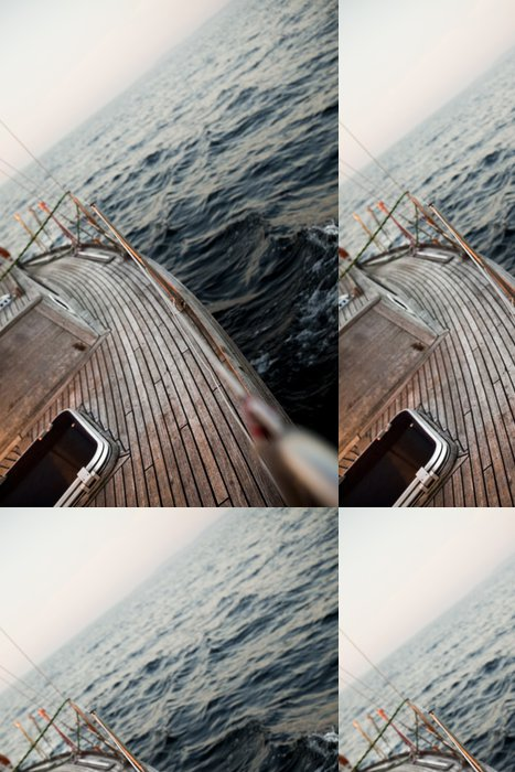 Tapeta Pixerstick Plachtění na otevřeném moři - Lodě