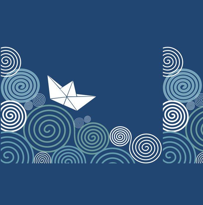 Tapeta Pixerstick Plachtění papír loď - Pozadí