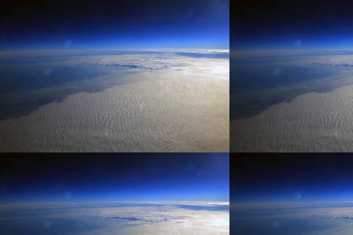 Vinylová Tapeta Planeta povrch nebeského tělesa, pustá krajina - Meziplanetární prostor