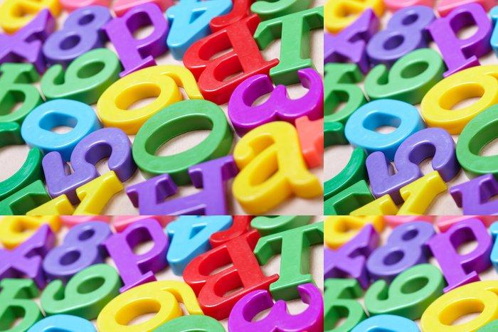 Tapeta Pixerstick Plastové abecedy - Témata
