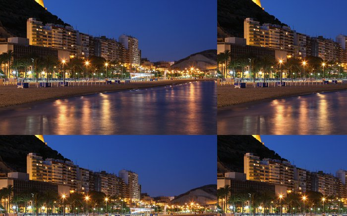 Vinylová Tapeta Pláž Alicante za soumraku. Katalánsko, Španělsko - Témata