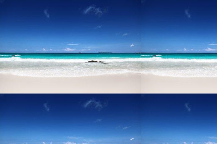 Tapeta Pixerstick Pláž u Ostrov Praslin, Seychely - Voda