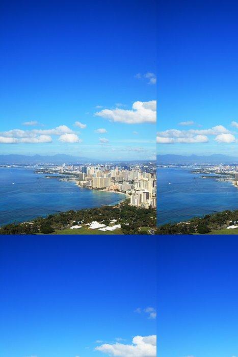 Tapeta Pixerstick Pláž Waikiki z Diamond Head - Město