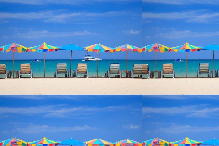 Vinylová Tapeta Plážové židle na pláži, Phuketi, Thajsko - Asie