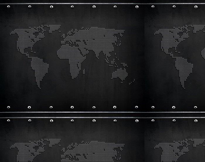 Tapeta Pixerstick Plech s mapou světa -
