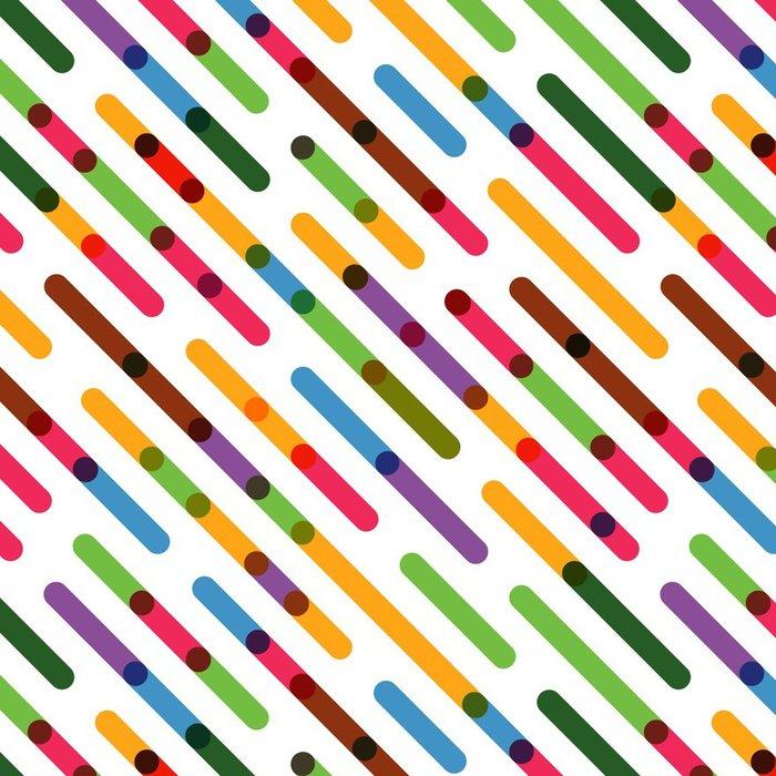 Tapeta Pixerstick Ploché barevné diagonální čáry. Vektorové bezešvé vzor - Grafika