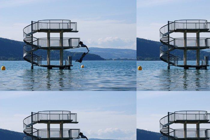 Tapeta Pixerstick Plongeoir lac d'Annecy - Prázdniny