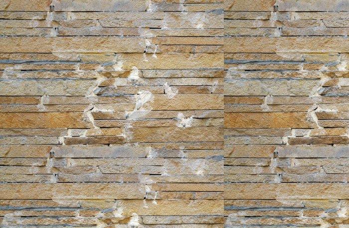 Tapeta Pixerstick Plot z béžové úzkých kameny připevněn cementu jako backgr - Struktury