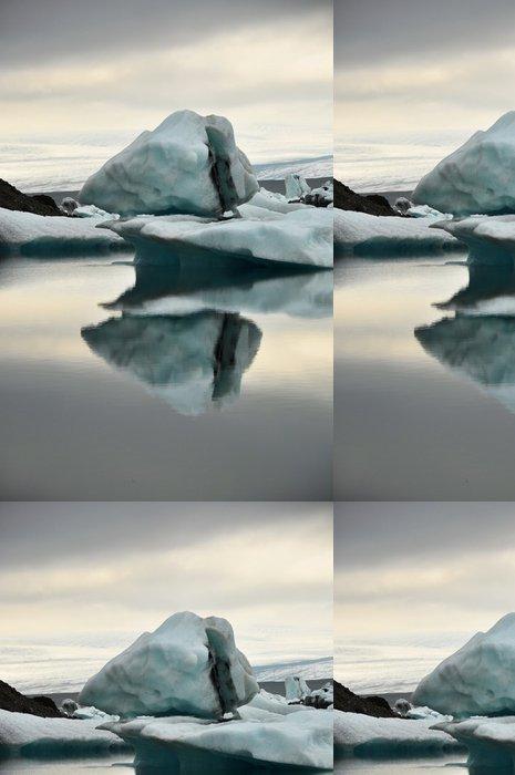 Vinylová Tapeta Plovoucí ledovce, ledovcové laguny Jokullsarlon, Island - Evropa