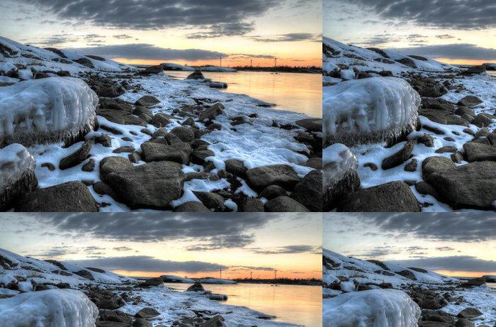 Tapeta Pixerstick Pobřeží Baltského moře v březnu - Roční období