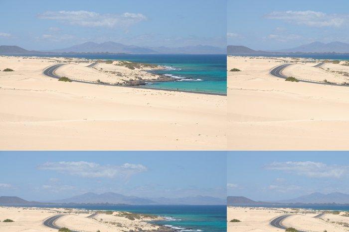 Tapeta Pixerstick Pobřeží poblíž Corralejo, Kanárské ostrov Fuerteventura, Španělsko - Prázdniny