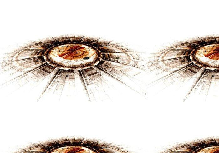 Vinylová Tapeta Počítačem generované ilustrace vykreslení fraktálu solární modř - Pozadí