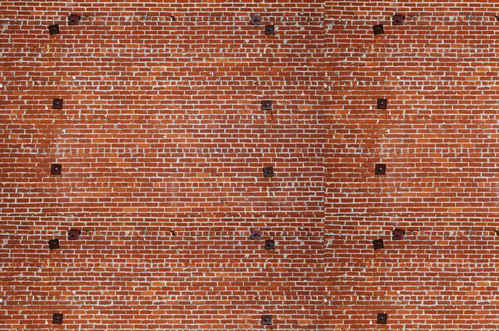 Vinylová Tapeta Podpora cihlové zdi ocel - Památky