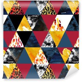 Vinylová Tapeta Podzim inspirovaný akvarel bezešvé vzor