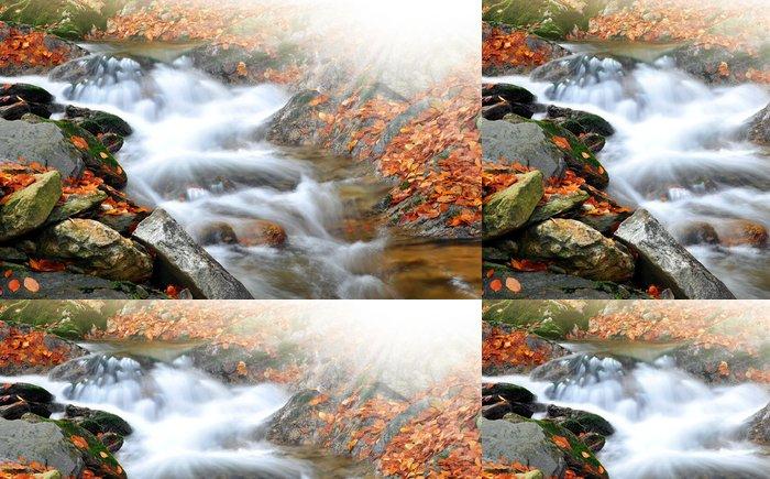 Tapeta Pixerstick Podzim potok v České republice - Evropa