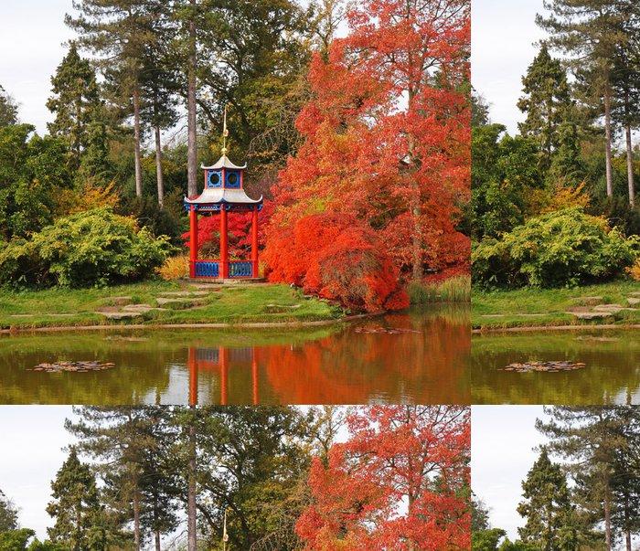 Tapeta Pixerstick Podzim v japonském stylu zahrady - Domov a zahrada