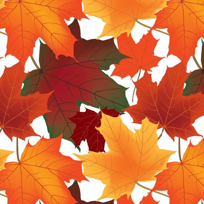 Tapeta Pixerstick Podzimní javorové listy bezešvé podtisk - Roční období