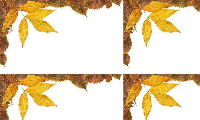 Tapeta Pixerstick Podzimní listí hranice - Roční období
