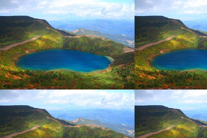 Tapeta Pixerstick Podzimní modrá rybník v Fukushima, Japonsko - Témata