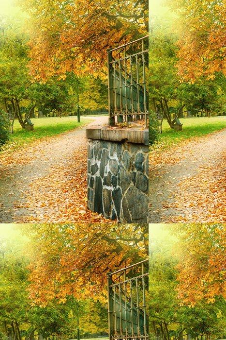 Tapeta Pixerstick Podzimní park - Evropská města