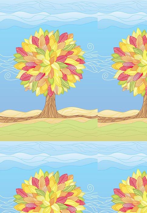 Tapeta Pixerstick Podzimní strom / vektorové ilustrace - Roční období
