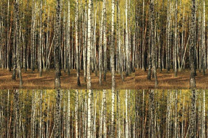 Tapeta Pixerstick Podzimní stromy s žloutnutí listů - Témata