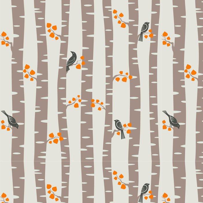Tapeta Pixerstick Podzimní stromy vzor - Témata