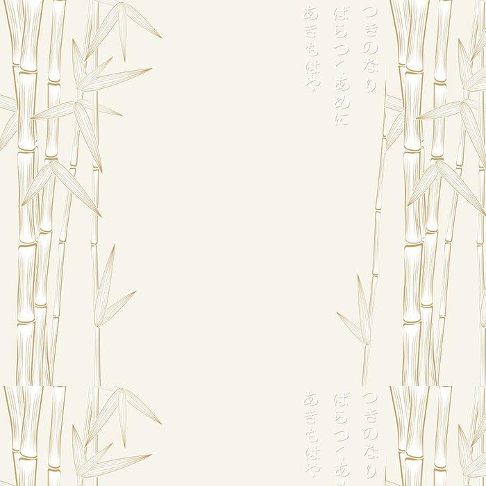 Vinylová Tapeta Podzimu bambusu rám - Roční období