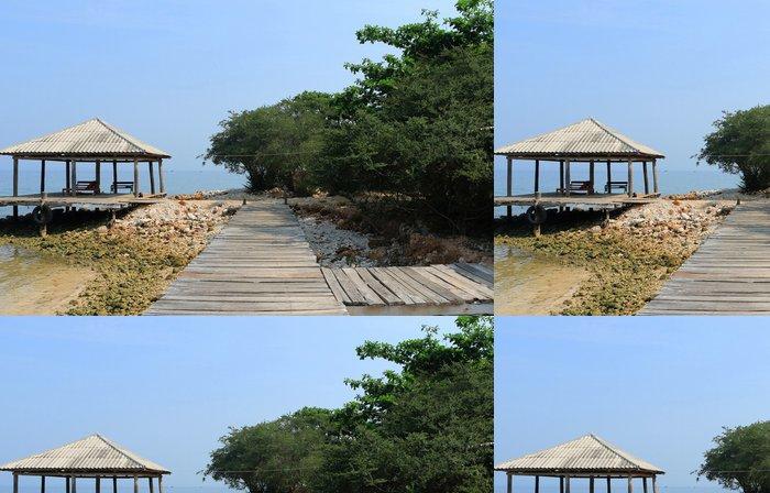 Tapeta Pixerstick Pohled Beach krajina na dovolenou výlet - Prázdniny