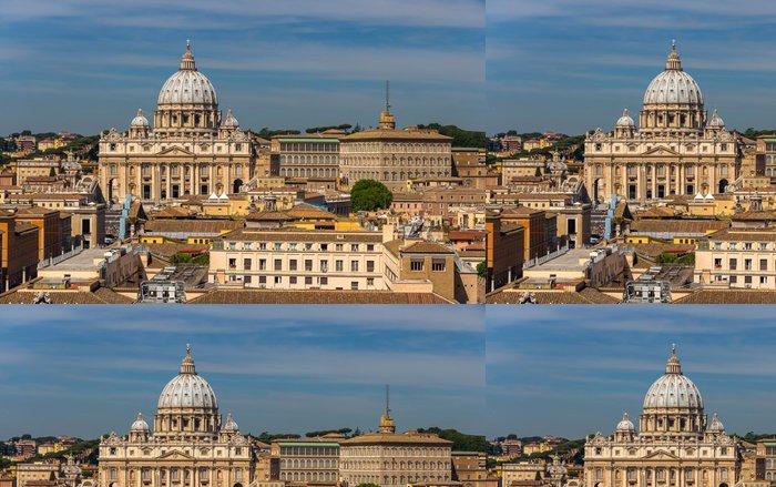 Tapeta Pixerstick Pohled na bazilice svatého Petra v Římě - Evropa