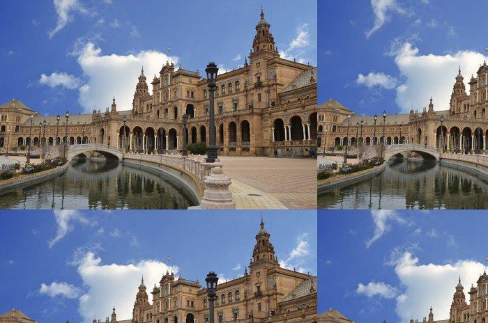 Tapeta Pixerstick Pohled na centrální části Plaza Španělska v Seville - Památky