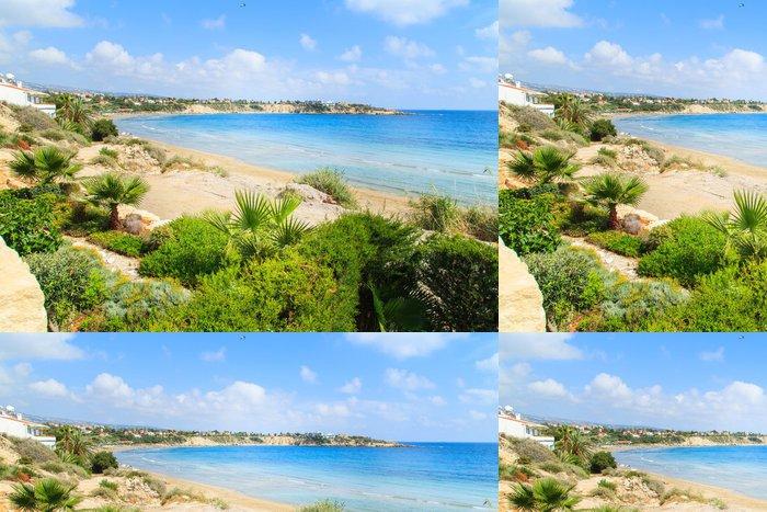Tapeta Pixerstick Pohled na Coral Beach v Paphos, Kypr - Témata