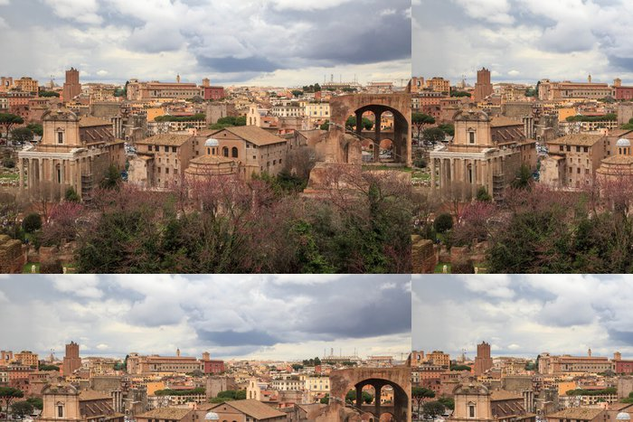 Vinylová Tapeta Pohled na historické centrum Řím Itálie - Témata