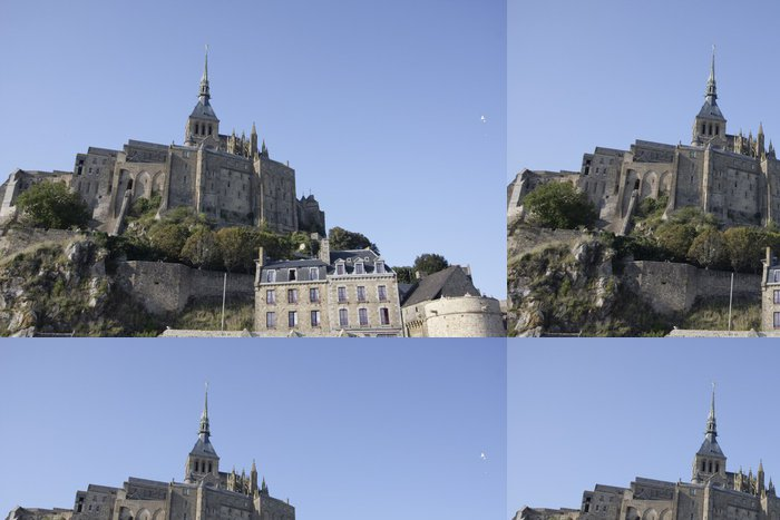 Vinylová Tapeta Pohled na Mont Saint Michel, v Normandii - Evropa