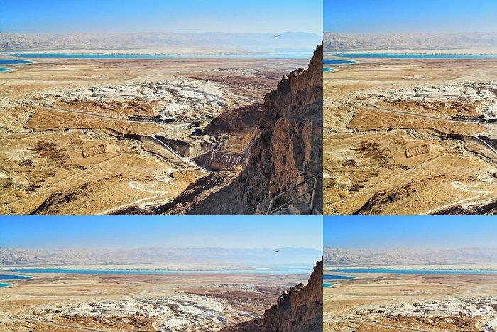 Vinylová Tapeta Pohled na Mrtvé moře z Masada, Izrael - Střední Východ