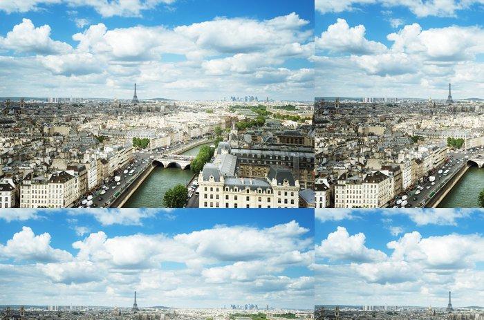 Vinylová Tapeta Pohled na Paříž, Francie - Cestování