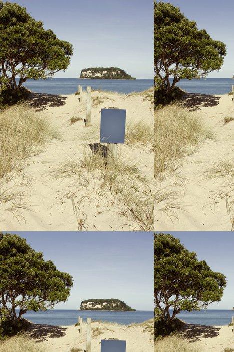 Tapeta Pixerstick Pohled na pláž - Voda