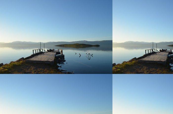 Vinylová Tapeta Pohled na Torneträsk jezera v Abisko, Švédsko - Voda