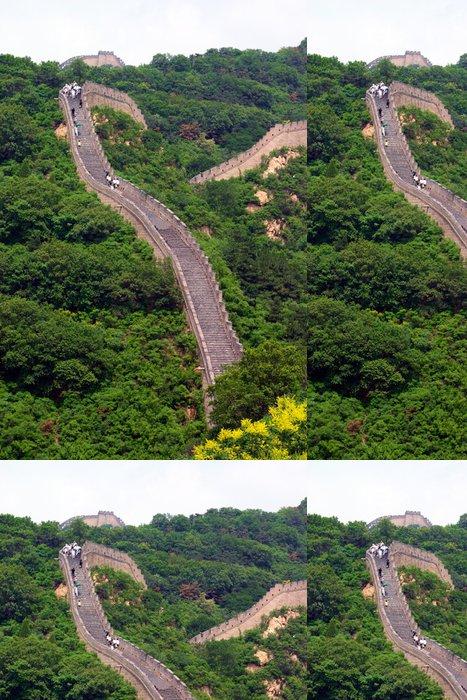 Tapeta Pixerstick Pohled na Velká čínská zeď - Památky