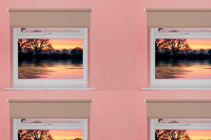 Vinylová Tapeta Pohled na západ slunce nad jezerem zobrazí se okno - Témata